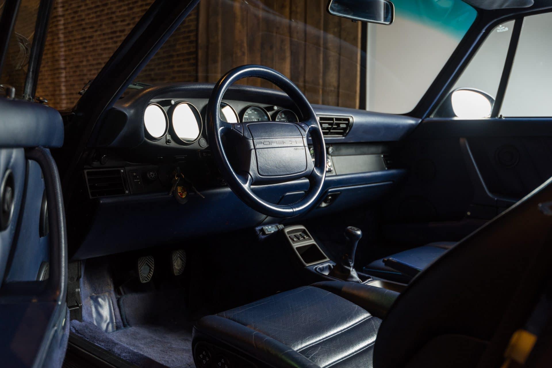 Porsche 964 Turbo Blauw -6