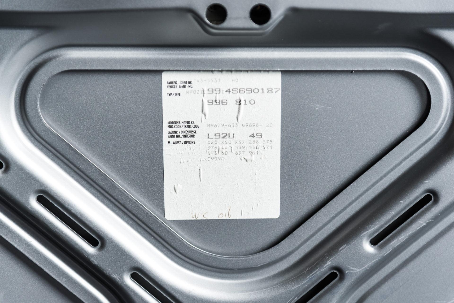 Porsche 996 GT3 Zilvergrijs - 20180314 -12