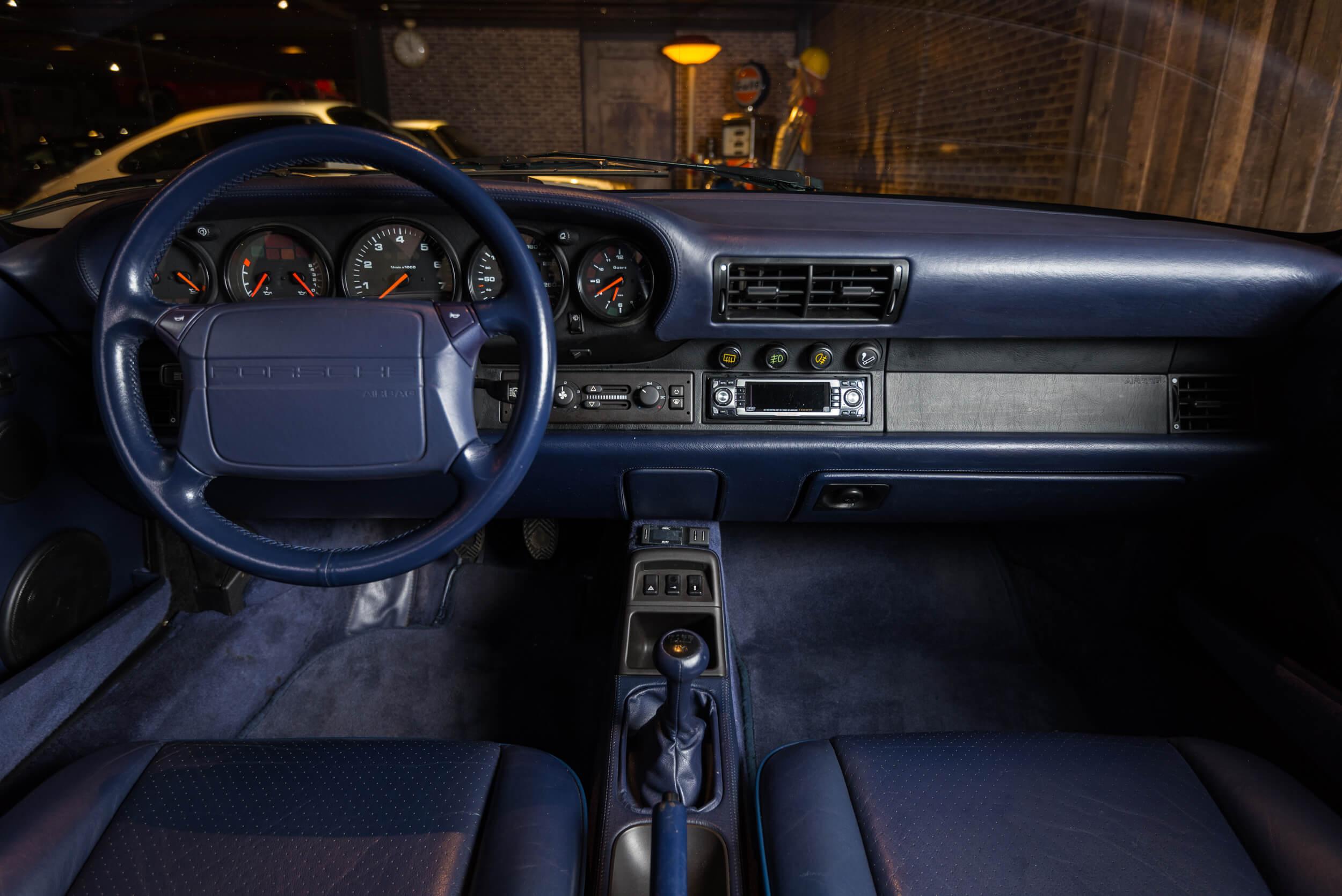 Porsche 964 Turbo Blauw -7