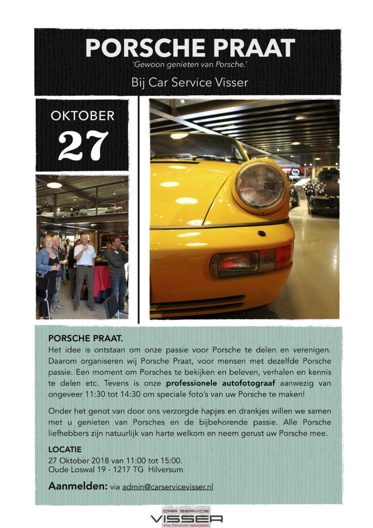 Porsche Praat bij Car Service Visser